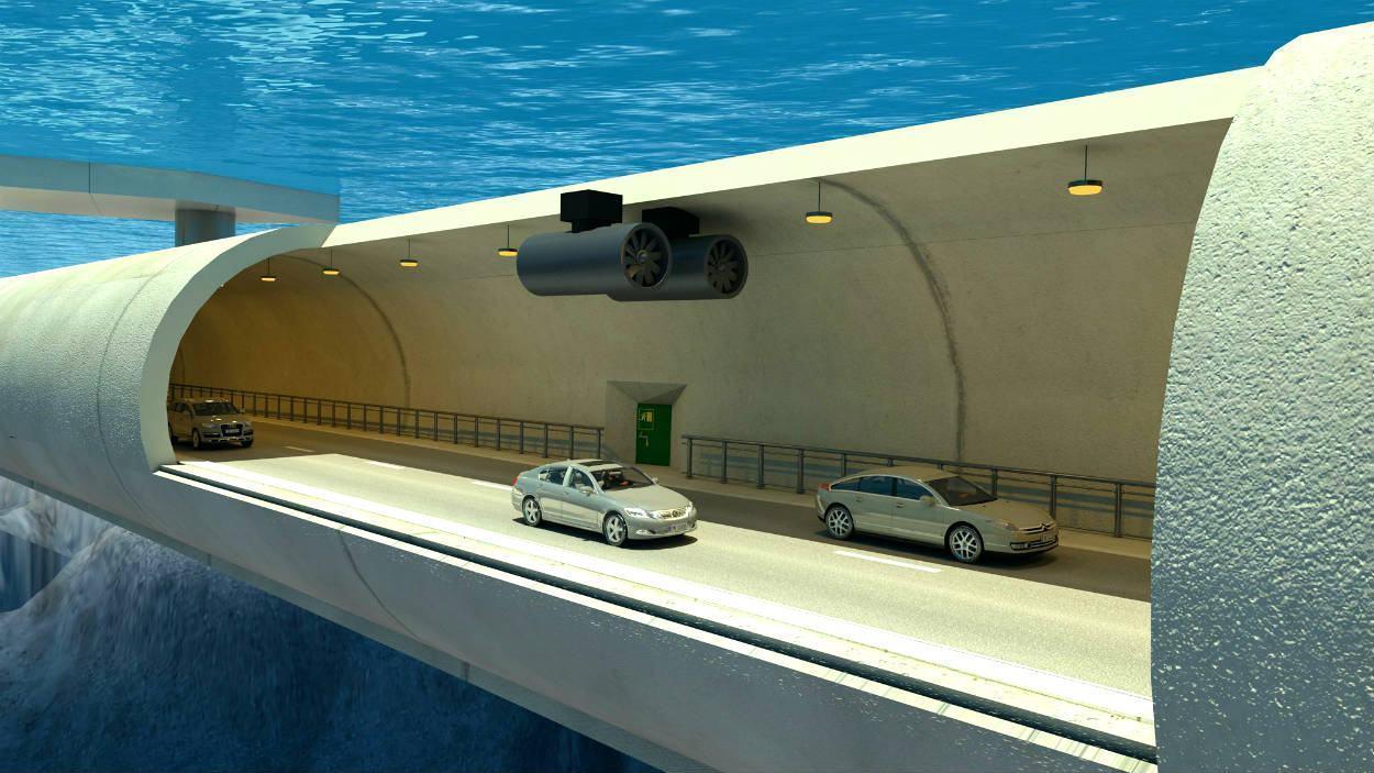 Túnel submerso flutuante - Noruega