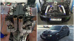 Brutal, esse Volkswagen Golf tem um motor V10 biturbo (com 1.267 cv)!