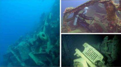 Restos surpreendentes da 2ª Guerra: EUA afundaram 100 ton de veículos (e milhões de dólares) no fundo do mar