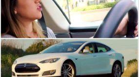 Imperdível: Rolê de Tesla Model S por San Francisco em ótima companhia