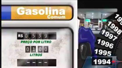Você se lembra da gasolina por R$ 0,53? Vídeo mostra o absurdo aumento (a cada ano) desde 1994