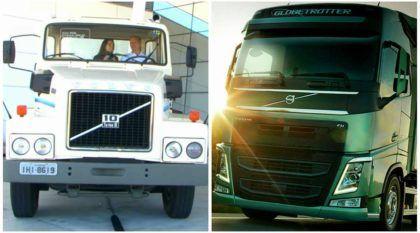 Veja o comparativo entre caminhões Volvo: um antigo e outro novo!
