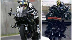 Brutalidade na volta rápida! A Moto mais potente e cara do mundo (Kawasaki Ninja H2R) voando nas mãos do Alex Barros!