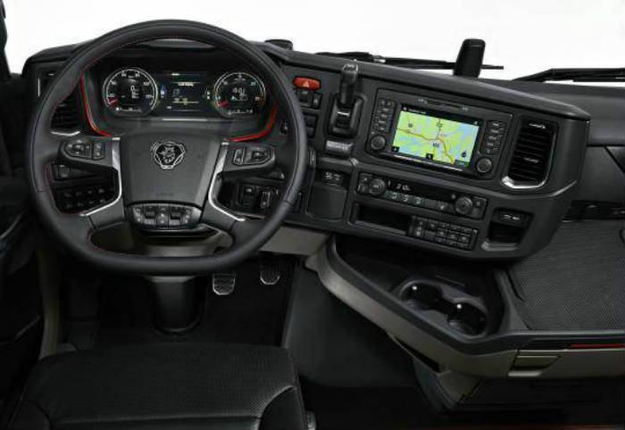 Painel e cabine do Novo Scania