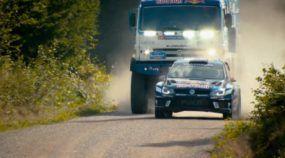 Isso você nunca viu: Duelo de lendas voadoras do Rally entre um carro (VW) e um caminhão (Kamaz)
