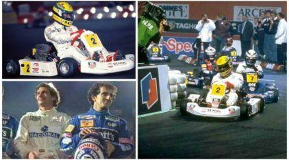 O último duelo: Senna e Prost em disputa fantástica no Kart em 1993