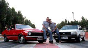 Pai, filho, um Maverick V8, um Voyage Turbo e uma oficina: família unida, carros rápidos!
