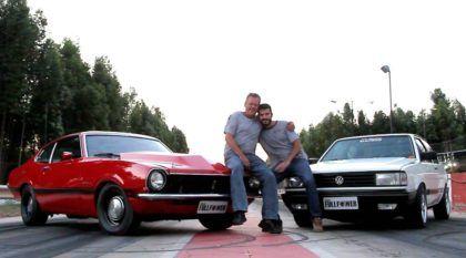 Pai, filho, um Maverick V8, um Voyage Turbo e uma oficina: família unida, carros rápidos