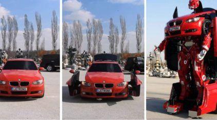 Alguém criou um BMW (da vida real) que vira um Transformer impressionante!
