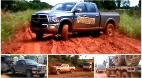 Caminhonetes Extremas: Dodge RAM enfrenta lama, atravessa rios e reboca caminhões