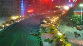 Demolição inacreditável! Em apenas uma noite, 116 escavadeiras derrubam elevado na China