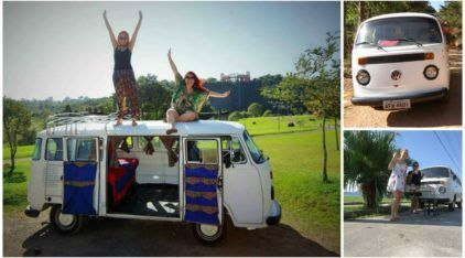 Irmãs de Curitiba largam tudo e viajam para o México numa Kombi