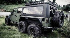 Jeep Wrangler com tração 6×6? Conheça essa novidade intimidadora ao extremo!