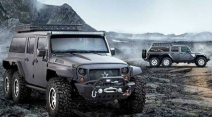 Jeep Wrangler com tração 6x6? Conheça essa novidade intimidadora ao extremo!