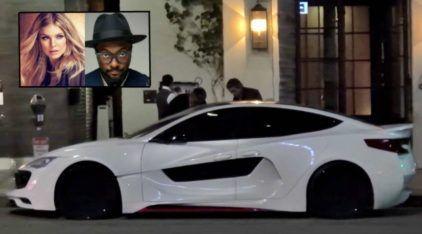 Bom gosto ou Xuning? O rapper Will.i.am e seu irreconhecível Tesla Model S