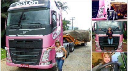 Vida de Caminhoneira: Vídeos mostram Rosa Richartz no comando do seu Volvo FH