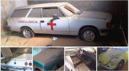 """Joias na Poeira: Vídeo revela carros lendários """"abandonados"""" em Galpão no Brasil"""