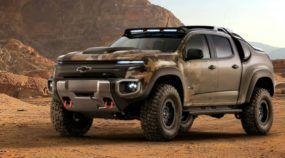 Imagine uma Chevrolet S10 (impetuosamente) preparada para a Guerra! Agora conheça sua irmã militar Colorado ZH2