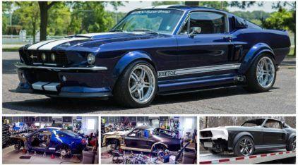 Inacreditável! Esse cara desmanchou seu novo Mustang GT500 para transformá-lo no modelo 1967!
