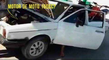 """Uma """"Saveiro"""" com motor de moto Honda CG 150cc? Vídeo mostra a inacreditável adaptação feita pelo dono"""