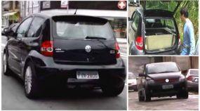 Que loucura! Brasileiro criou um VW Fox VR6 biturbo com tração traseira e motor central
