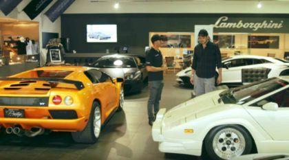 Modelos Lamborghini V12 (raríssimos e avaliados em R$ 6 milhões) em um rolê por Miami