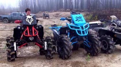 Trilhas Insanas: Quadriciclos monstruosos desafiam um clima extremo e muita lama