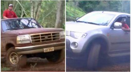 O dia em que uma antiga Ford F1000 humilhou uma L200 Triton na subida do morro