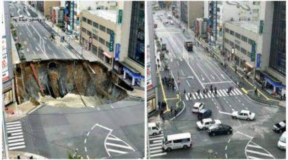 Japão surpreende o mundo e fecha cratera monstruosa numa semana (Vídeo revela detalhes)
