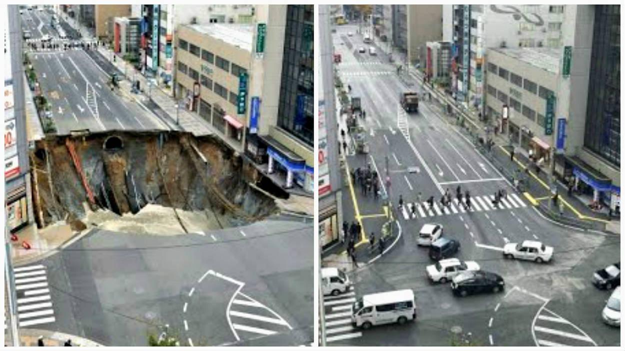 Cratera no Japão