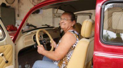 """Mulher reclama de Fusca que foi """"reformado"""" pelo Programa do Gugu"""