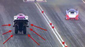 Insanidade na arrancada: vitória empinando um Funny Car a mais de 350 km/h