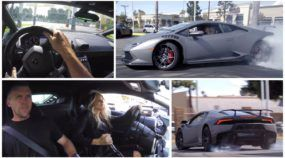 Casal Radical e seu Lamborghini Huracán arrepiam no Drift em plena concessionária