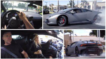 Casal Radical e seu Lamborghini Huracán arrepiam no Drift (dentro da concessionária)