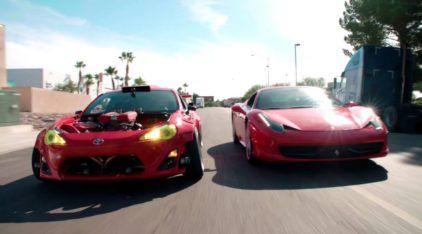 Toyota com motor de Ferrarii