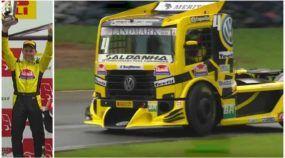 É tetra! Com Volkswagen Constellation, Felipe Giaffone conquista mais um título na Fórmula Truck
