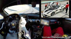 Espetáculo insano: Sinta o que é uma carona a 320 km/h numa Ferrari FXX K