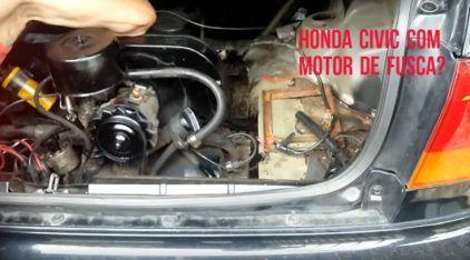 Honda Civic com motor de Fusca? A criatividade do brasileiro não tem (mesmo) limites
