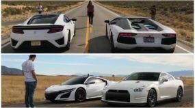 Honda NSX massacrando Lamborghini Aventador e GT-R na arrancada?