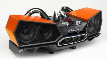 Caixa de som dos sonhos? Vídeo revela aparelho em formato de Escapamento de Lamborghini