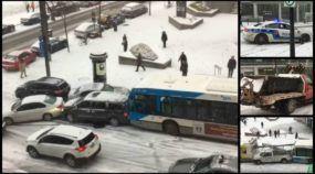 Conexão Canadá: Neve causa acidente insano em ladeira (e vídeo viraliza no mundo inteiro)