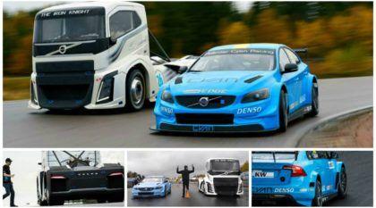 Duelo de monstros da Volvo na pista: Será que o caminhão (com 2.433cv) vence o S60 Polestar?