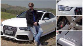 Fica V8! O Audi RS5 e seu potente (e barulhento) V8 aspirado (a 8.250 RPM) deixam saudades!
