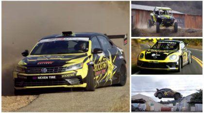 Um piloto (ex-Top Gear), vários carros, drifts animais e saltos difíceis (tudo em um vídeo, ufa!)