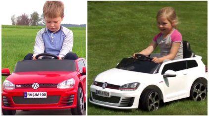 Família motorizada e com pé embaixo: conheça o VW Golf GTI elétrico para as crianças!