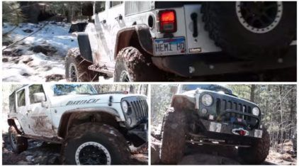 Off-Road Brutal: criaram um Jeep Wrangler com motor SRT Hellcat (Hemi 6.2, V8 e 700cv)