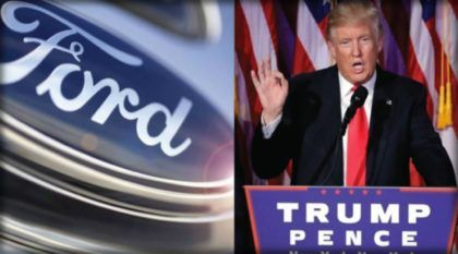 Efeito Donald Trump: Ford desiste de fábrica no México e vai gerar centenas de empregos nos Estados Unidos