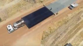 Em apenas 2 dias, veja como esse trecho de Estrada foi asfaltado (incrivelmente) na Austrália
