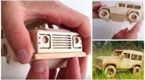 Faça você mesmo uma incrível Land Rover de madeira