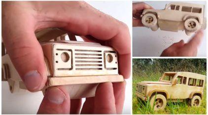 Faça você mesmo uma incrível Land Rover de madeira (em miniatura)